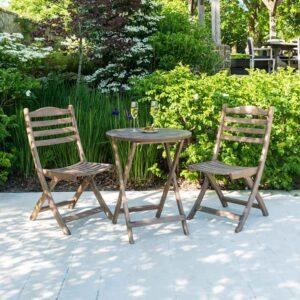 Alexander Rose Sherwood Folding Tea for Two Garden Set