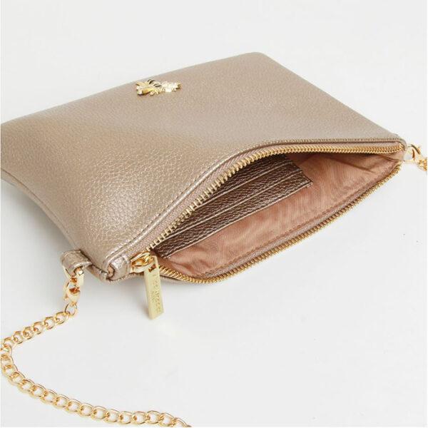 Alice Wheeler Bronze Cross Cute Bag AW5506 Inside