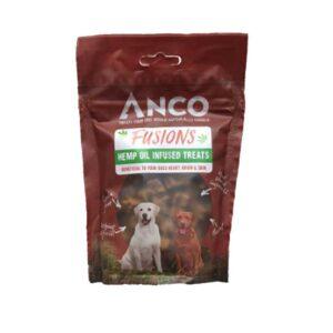 Anco Fusions Hemp Oil Infused Dog Treats 100g