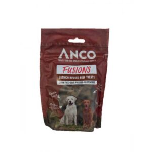 Anco Fusions Ostrich Infused Beef Dog Treats 100g