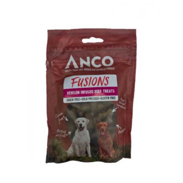 Anco Fusions Venison Infused Beef Treats 100g