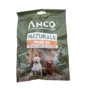 Anco Naturals Chicken Feet Dog Treats 100g