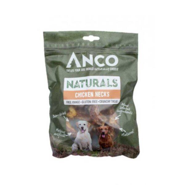 Anco Naturals Chicken Necks Dog Treats 7pk