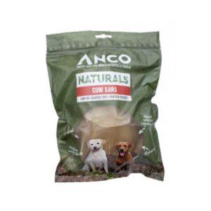 Anco Naturals Cow Ears Dog Treats 8pk
