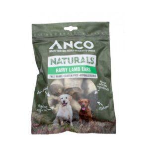 Anco Naturals Hairy Lambs Ears Dog Treats 90g