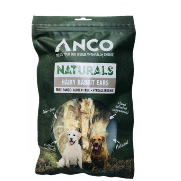 Anco Naturals Hairy Rabbit Ears Dog Treats 100g