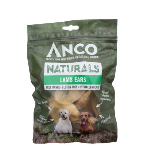 Anco Naturals Lamb Ears Dog Treats 100g