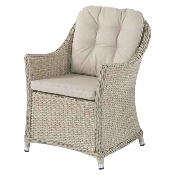 Armchair in Sandstone with season-proof Eco Oat seat & back cushions