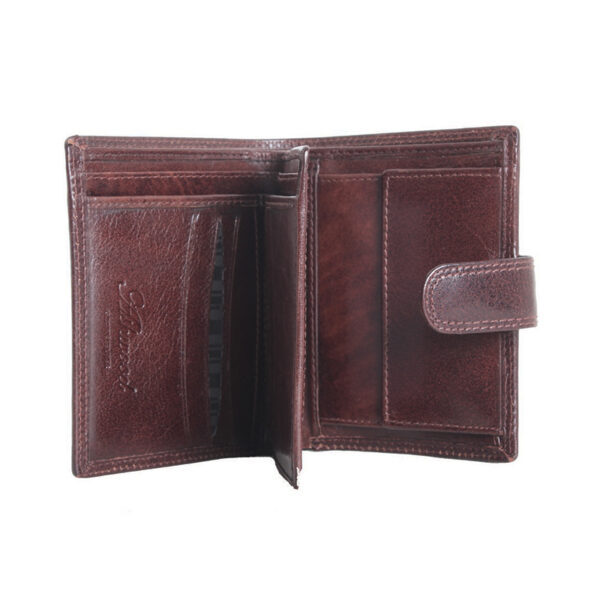Ashwood Leather Chelsea Men's Brown Wallet open