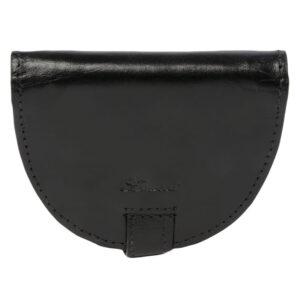 Ashwood Leather Chelsea Men's Coin Wallet Black front