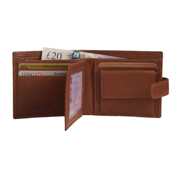Ashwood Leather Highbury Men's Wallet Tan open