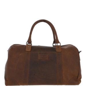 Ashwood Leather Jayden Vintage Brown Holdall FRONT