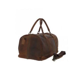 Ashwood Leather Jayden Vintage Brown Holdall side