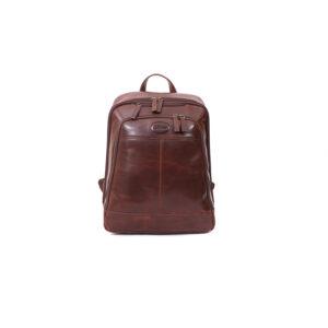 Ashwood Leather Men's Mayfair Laptop Business Rucksack Brown