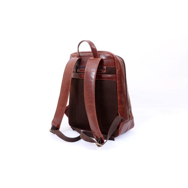 Ashwood Leather Men's Mayfair Laptop Business Rucksack Brown back