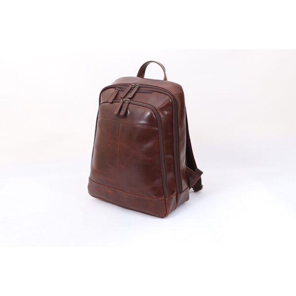 Ashwood Leather Men's Mayfair Laptop Business Rucksack Brown side 2