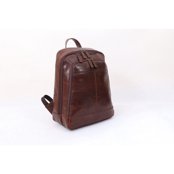 Ashwood Leather Men's Mayfair Laptop Business Rucksack Brown side