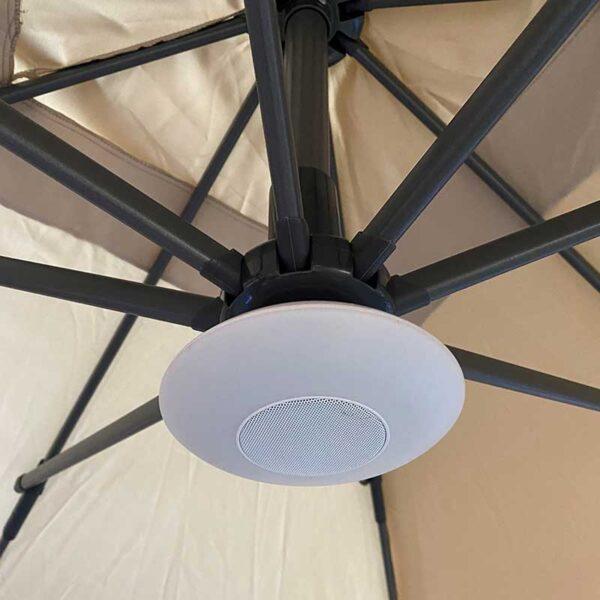 Back of Bramblecrest LED Light with Bluetooth Speaker