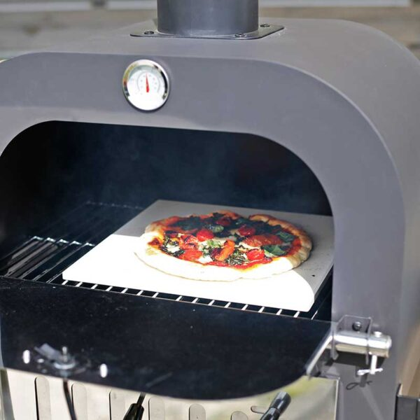 Baking pizza in the Salona Multi-Function Pizza Oven