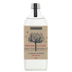 Barefoot & Beautiful Bergamot Bath Soak 300ml bergamot