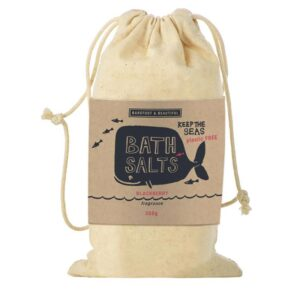 Barefoot & Beautiful Blackberry Bath Salts Bag 300g