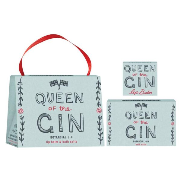 Barefoot & Beautiful Queen Of The Gin Handbag Gift Set