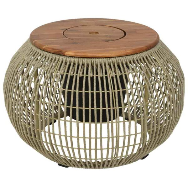 Beige Seville Rope Round Side Table