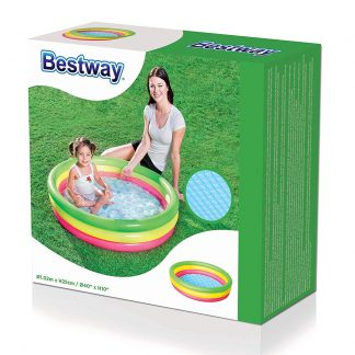 Bestway Multicoloured 3 Ring Paddling Pool Box
