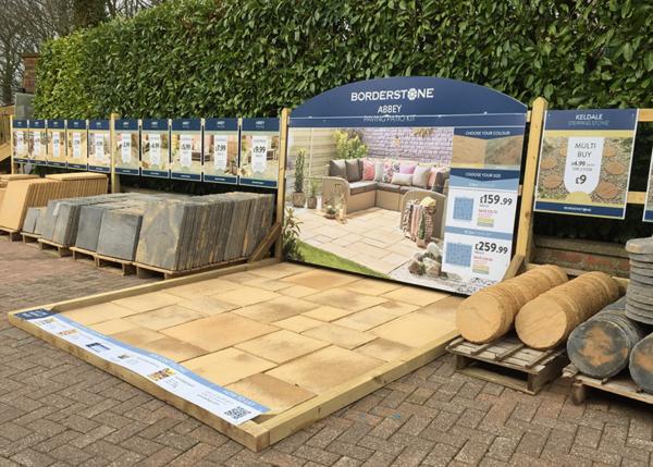 Borderstone Abbey Paving Kit at Gates Garden Centre