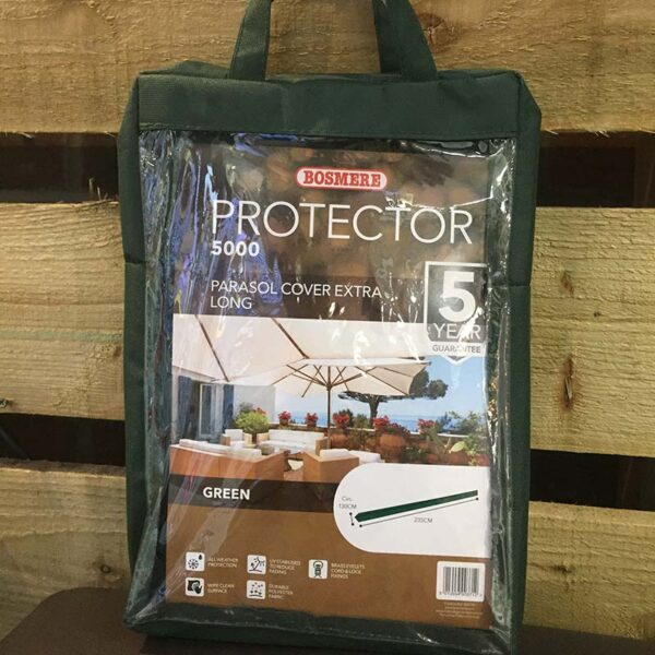 Bosmere Protector 5000 Extra Long Giant Parasol Cover (Dark Green)