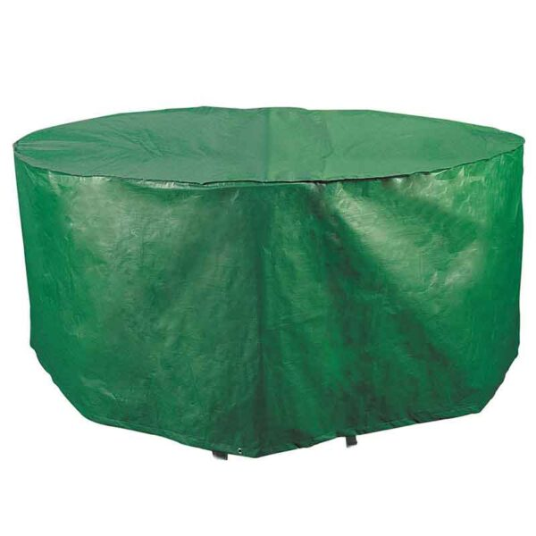 Bosmere Protector 2000 Circular 6/8 Seat Patio Set Cover Green Side