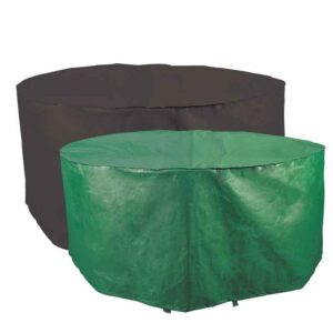 Bosmere Protector 2000 Circular 6/8 Seat Patio Set Cover (Reversible Green/Black)