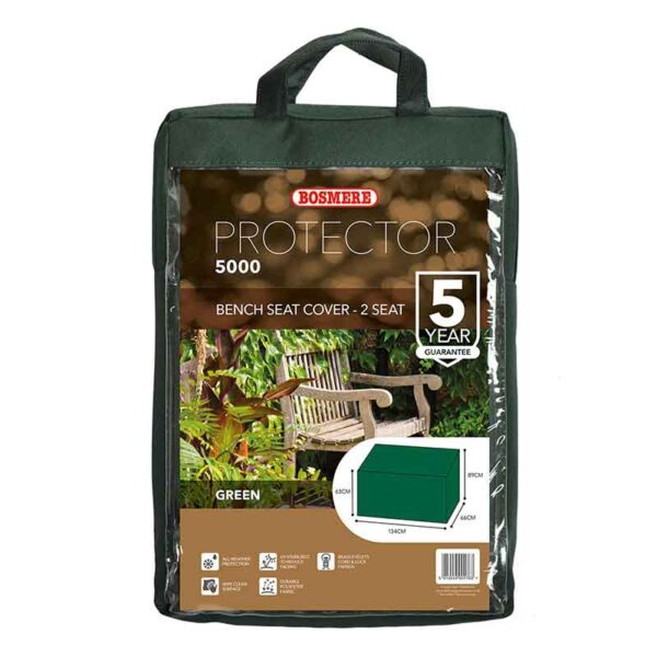 Bosmere Protector 5000 2 Seat Bench Cover Dark Green carry bag