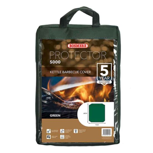Bosmere Protector 5000 Kettle Barbecue Cover (Dark Green) carry bag