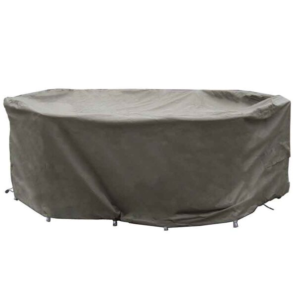 Bramblecrest 175 x 120cm Elliptical Table Set Cover in Khaki