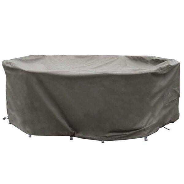 Bramblecrest 175 x 120cm Elliptical Table Set Cover in Khaki