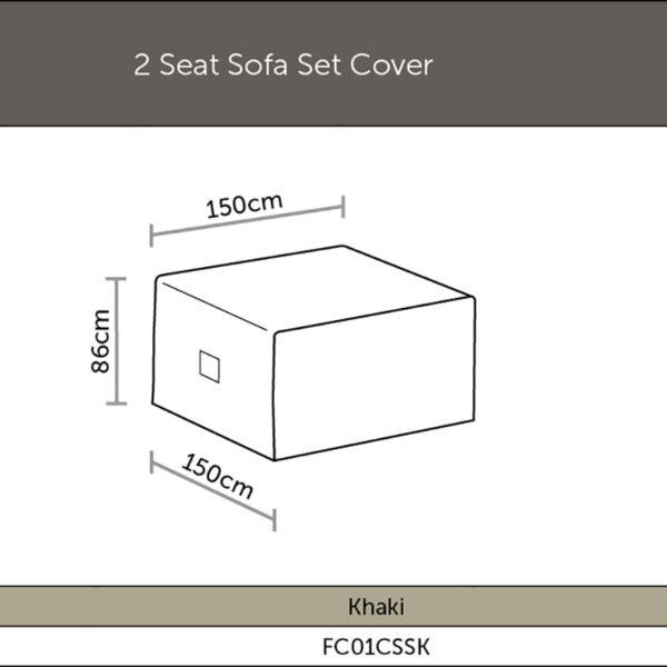 Bramblecrest 2 Seat Sofa Cover dimensions