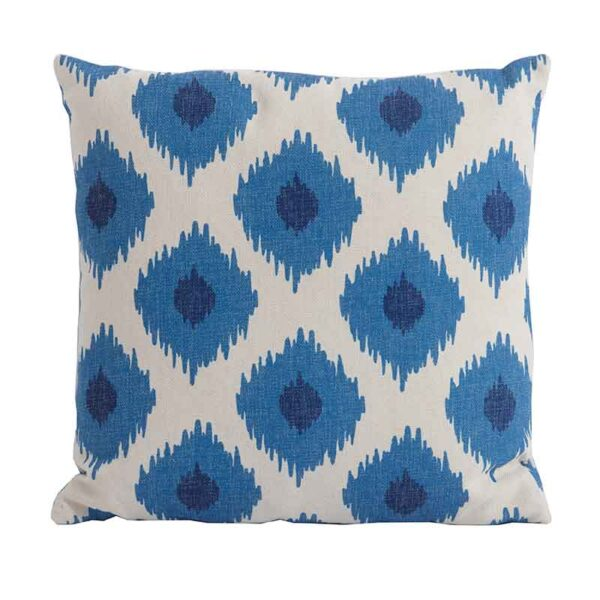 Bramblecrest Blue Lattice Square Scatter Cushion