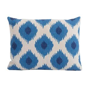 Bramblecrest Blue Lattice Rectangle Scatter Cushion