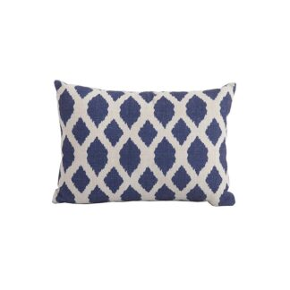 Bramblecrest Blue Trellis Rectangle Scatter Cushion