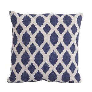 Bramblecrest Blue Trellis Square Scatter Cushion