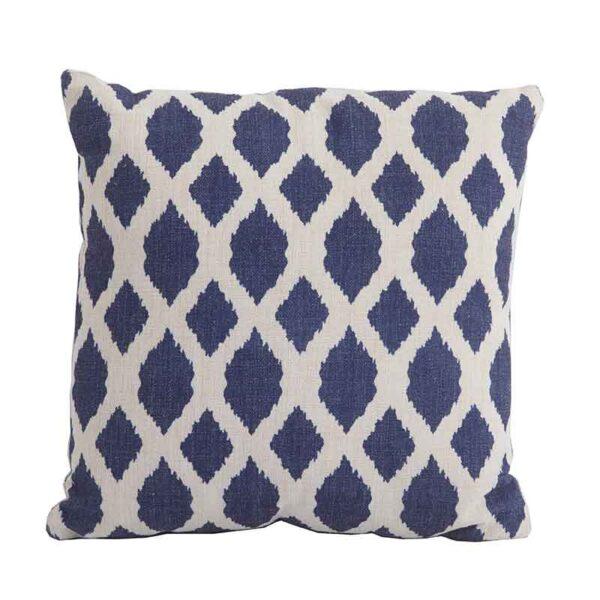 Bramblecrest Blue Trellis Square Scatter Cushion