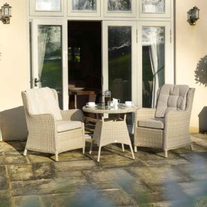 Bramblecrest Chedworth Bistro Set in Sandstone