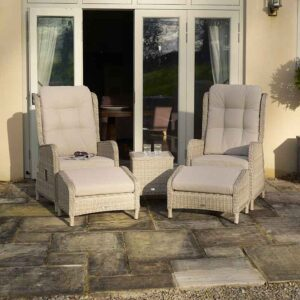 Bramblecrest Chedworth Deluxe 2 Seater Recliner Set in Sandstone