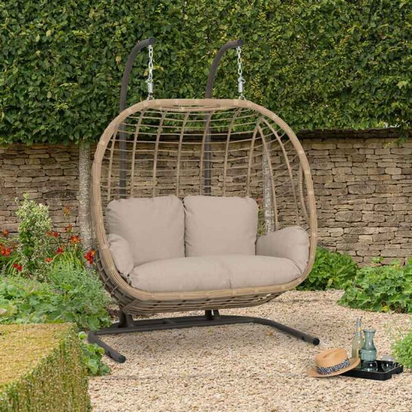 Bramblecrest Chedworth Open Weave Double Cocoon in Sandstone