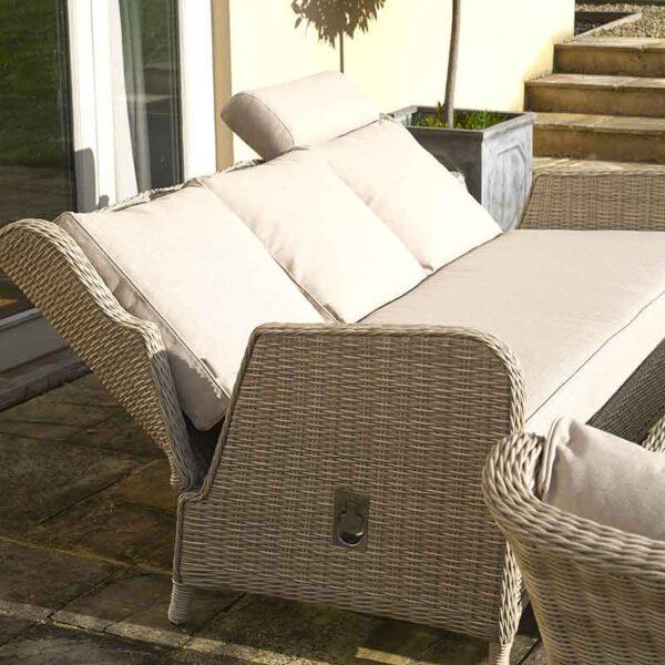 Bramblecrest Chedworth Reclining Sofa Set in Sandstone recline detail