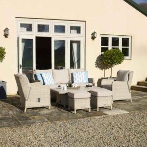 Bramblecrest Chedworth Reclining Sofa Set in Sandstone (Scatters not included)