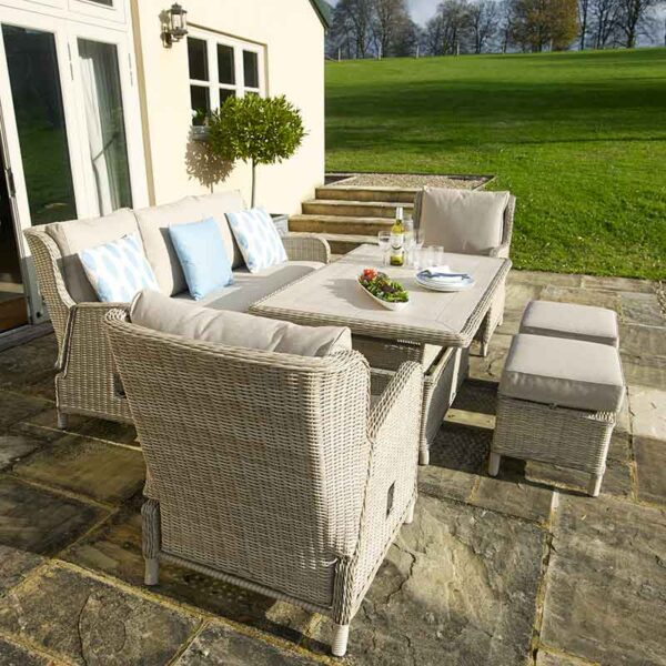 Bramblecrest Chedworth Reclining Sofa Set in Sandstone side profile