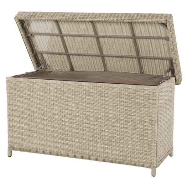 Bramblecrest Chedworth Standard Cushion Storage Box with liner shown in open position