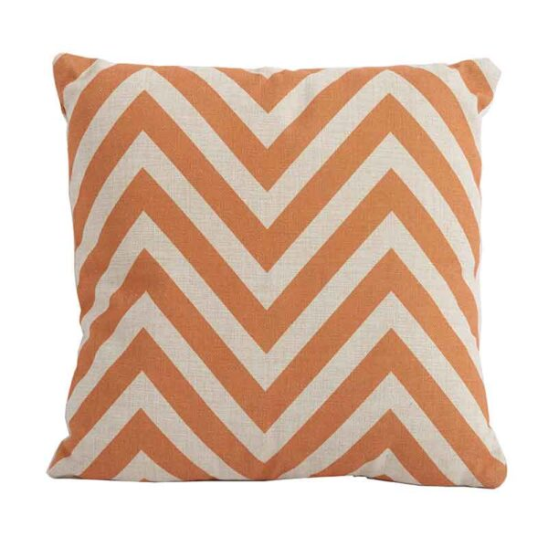 Bramblecrest Chevron Orange Square Scatter Cushion
